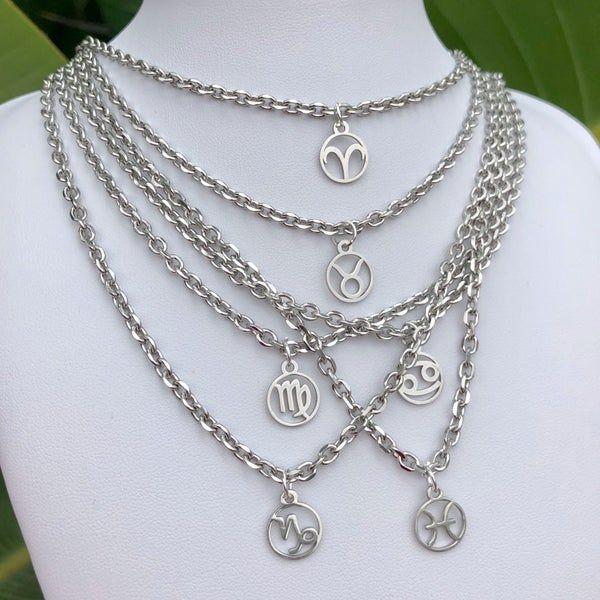 Silver Zodiac Necklace -   15 women's jewelry Necklace silver ideas