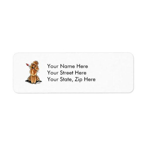 Apricot Poodle Sweetheart Valentines Label  Valentine Day Ideas