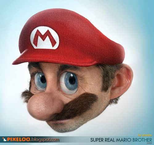 """""""Real life"""" Mario by Pixeloo"""