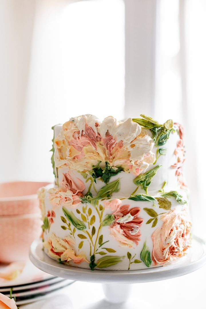 Painted Buttercream Spring Carrot Cake