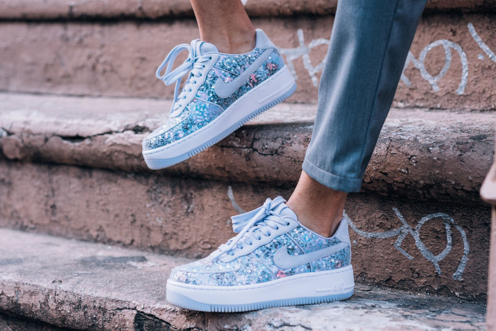 aa8f941d750668 Nike s Air Force 1 Upstep Low Gets a Fairytale Cinderella Moment in ...