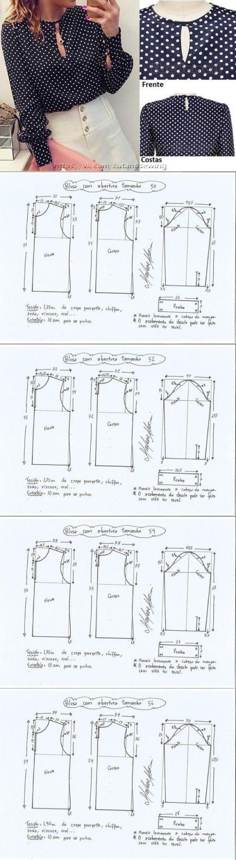 Pinterest | Vestidos Moldes | Pinterest | Patrones, Costura y Blusas