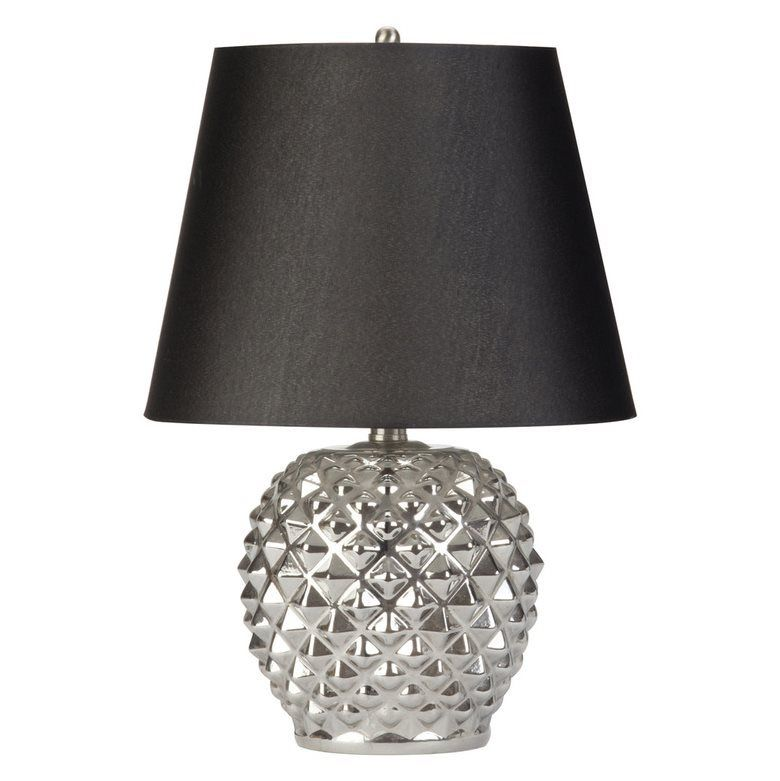 Shop globe electric chrome indoor table lamp with fabric shade at lowes canada modern home