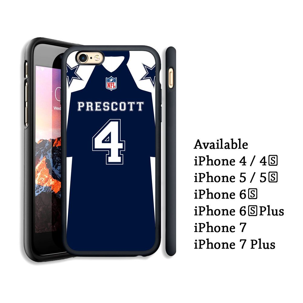 Cool Dak Prescott Dallas Cowboys Jersey Print On Case Cover For iPhone 6s+  7 7+  d498b3d0a