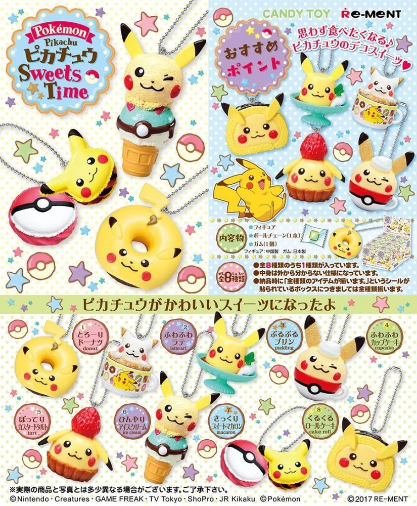 Re-Ment Pokemon Pikachu Floral Cup Collection 8 type set Japan import Anime