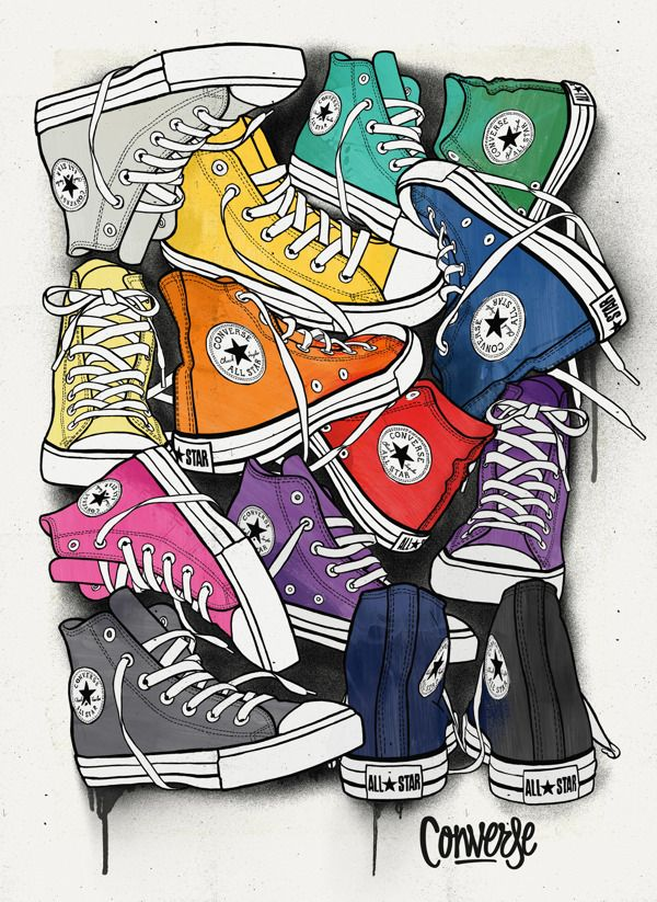Pop art style shoes sticker