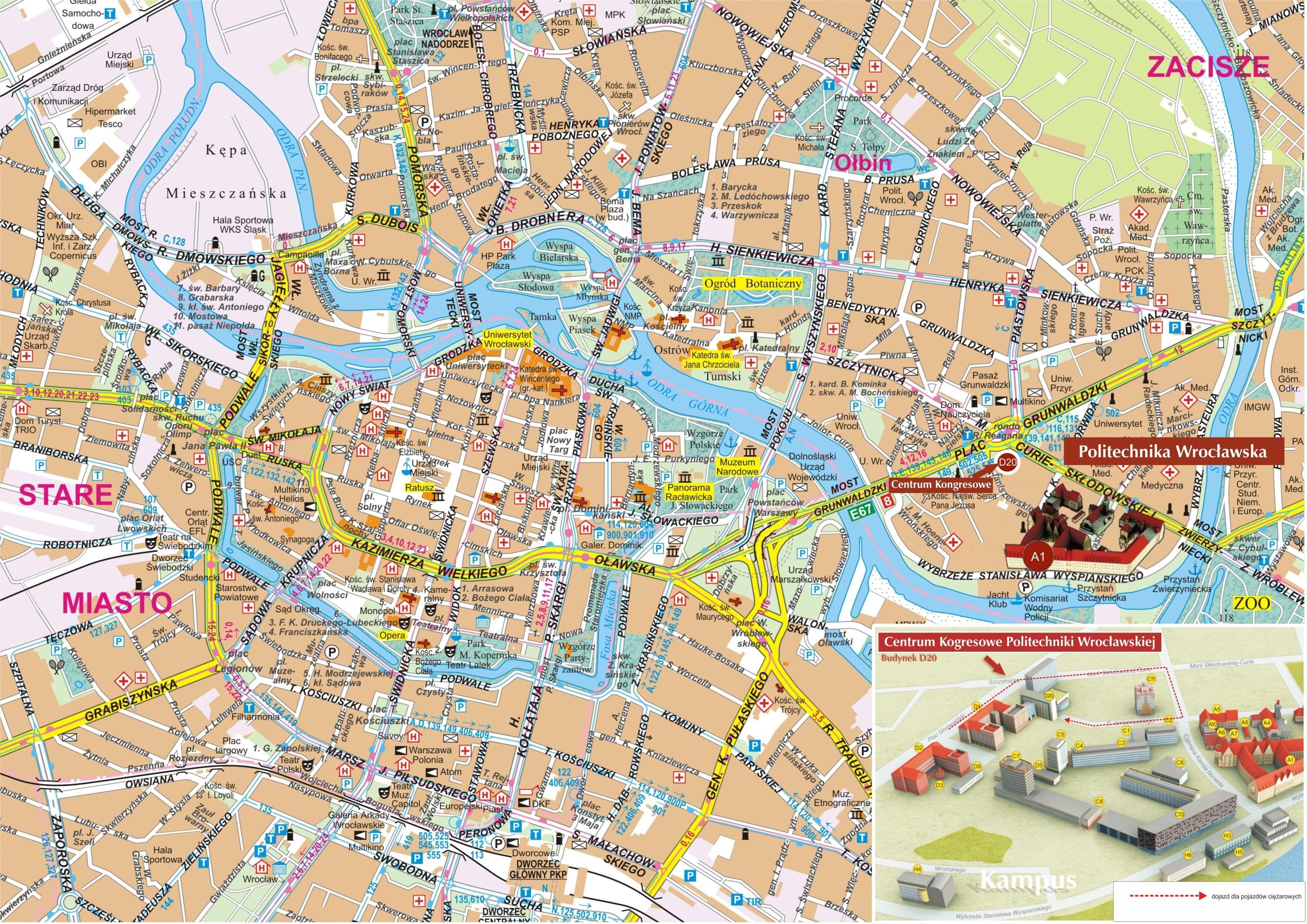 wroclawmap0jpg 16991263 cracovia Pinterest