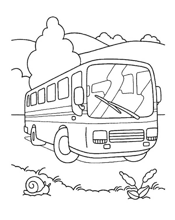 Riding A School Bus For School Field Trip Coloring Page Kids Play Color Buku Mewarnai Lembar Mewarnai Aktivitas Anak