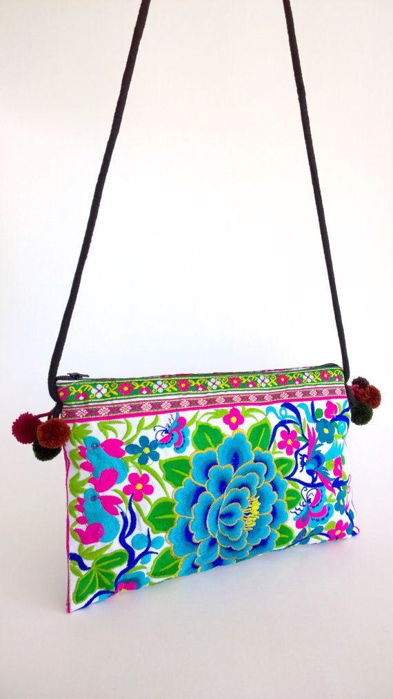 En venta: Blanco Hmong bandolera bolso bandolera Boho bolso   bags ...