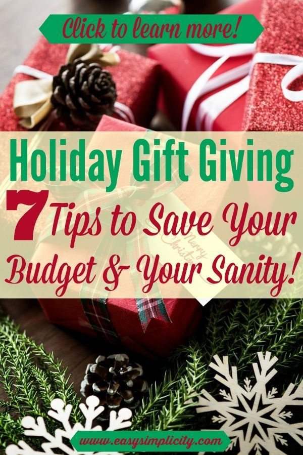 Holiday gift giving stressing you out? Holiday budget tights? These tips can help make your holiday shopping a breeze (and they might just save you money as well!) #holidaygift #giftideas #budgetholiday
