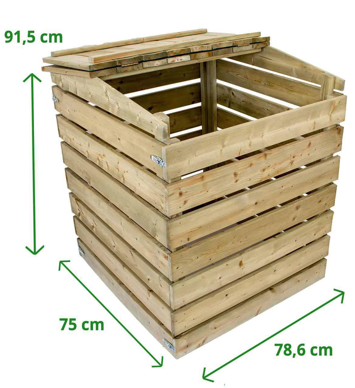 Komposter Aus Holz Mit Deckel Kompostierer Holzkomposter Kompost Larchenholz Und Kesseldruckimpragniert
