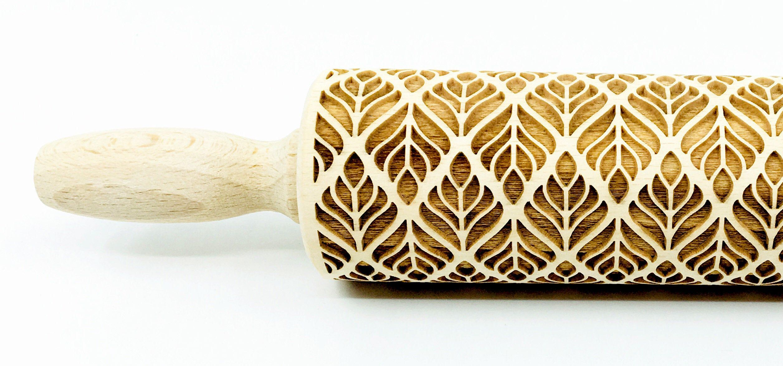 ART DECO engraved rolling pin for cookies embossing rolling pin laser rolling pin