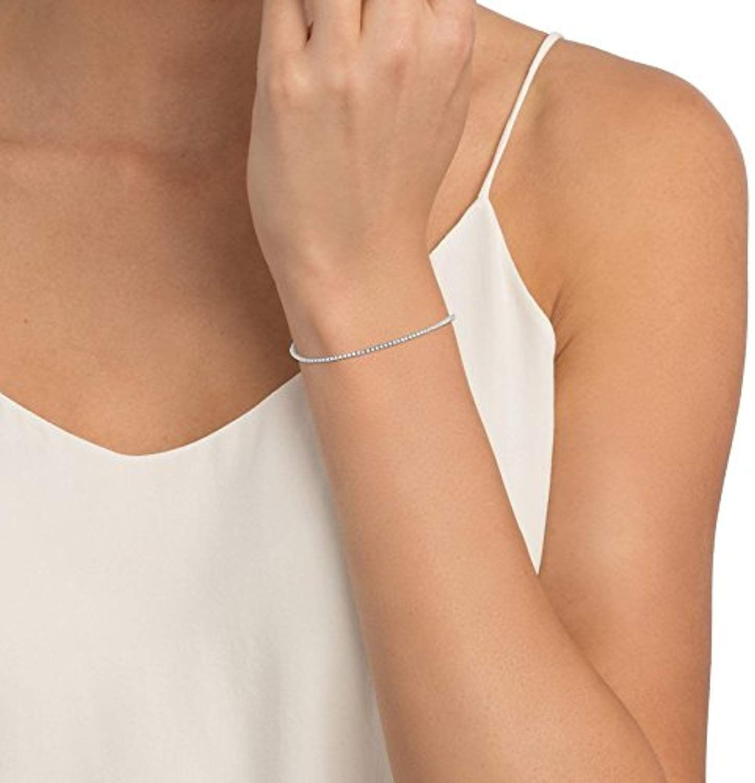 1 00 Carat Round Brilliant Diamond 7inch Tennis Bracelet In 18k White Gold Charujewels Amazon C Diamond Bar Bracelet Diamond Bezel Bracelet Gold Bar Bracelet