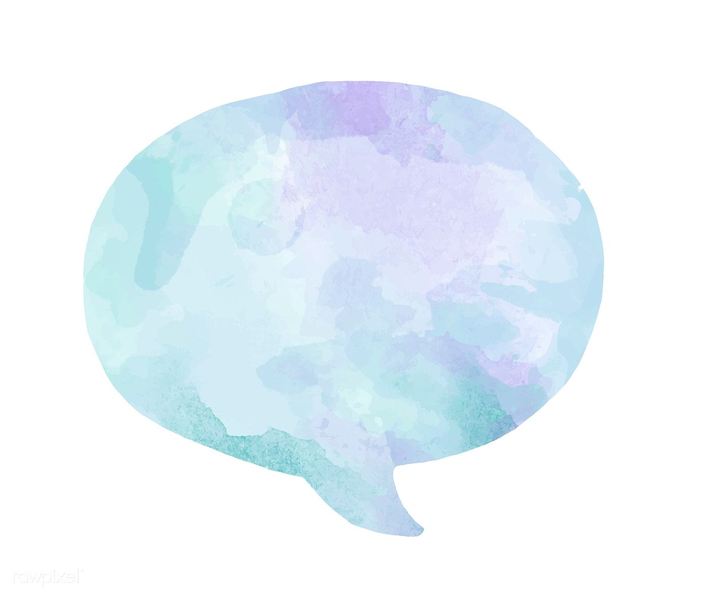 Colorful Watercolor Speech Bubble Vector Free Image By Rawpixel