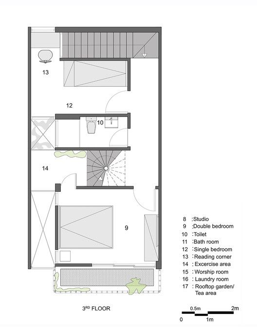 Casa Q10,Planta Tercer Piso