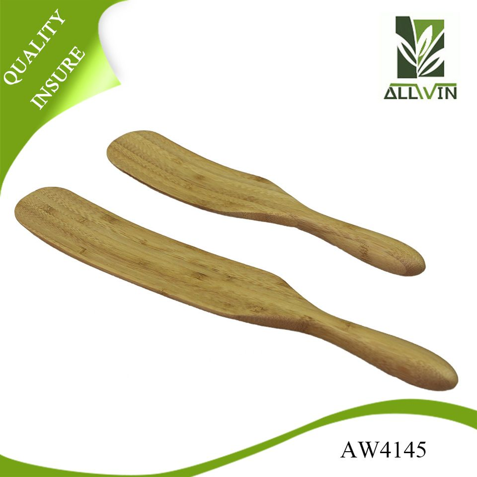 Eco-freidly 2-Piece Bamboo Spurtle Set (Stirring Spatula/Spoon)