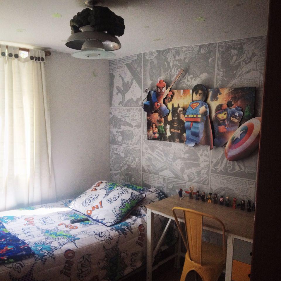 Habitaciones lego s per h roes personalizadas bebes capit n am rica hulk airoman hombre - Babymobel berlin ...
