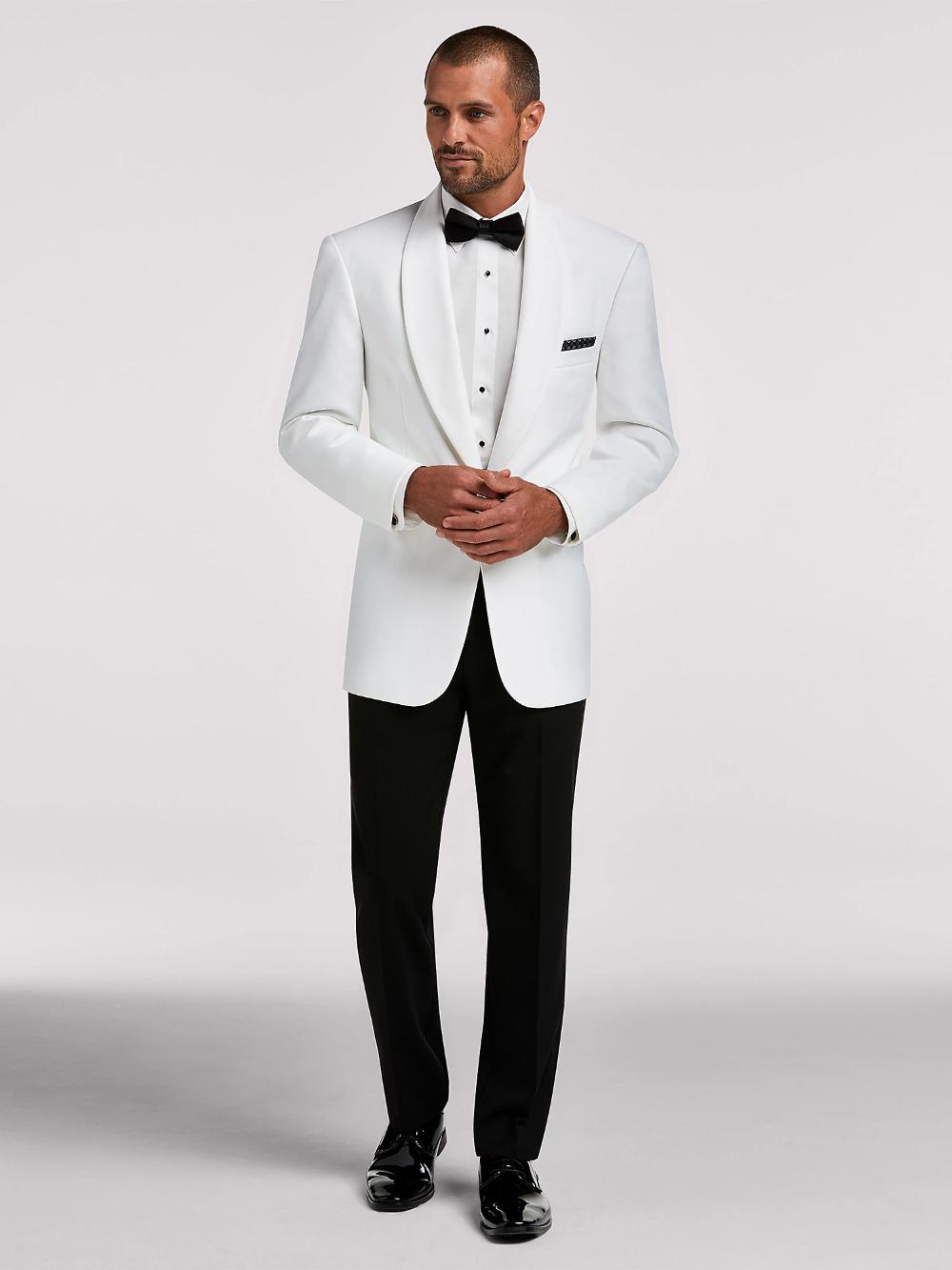 Joseph & Feiss White Dinner Jacket Tux in 2020 Wedding
