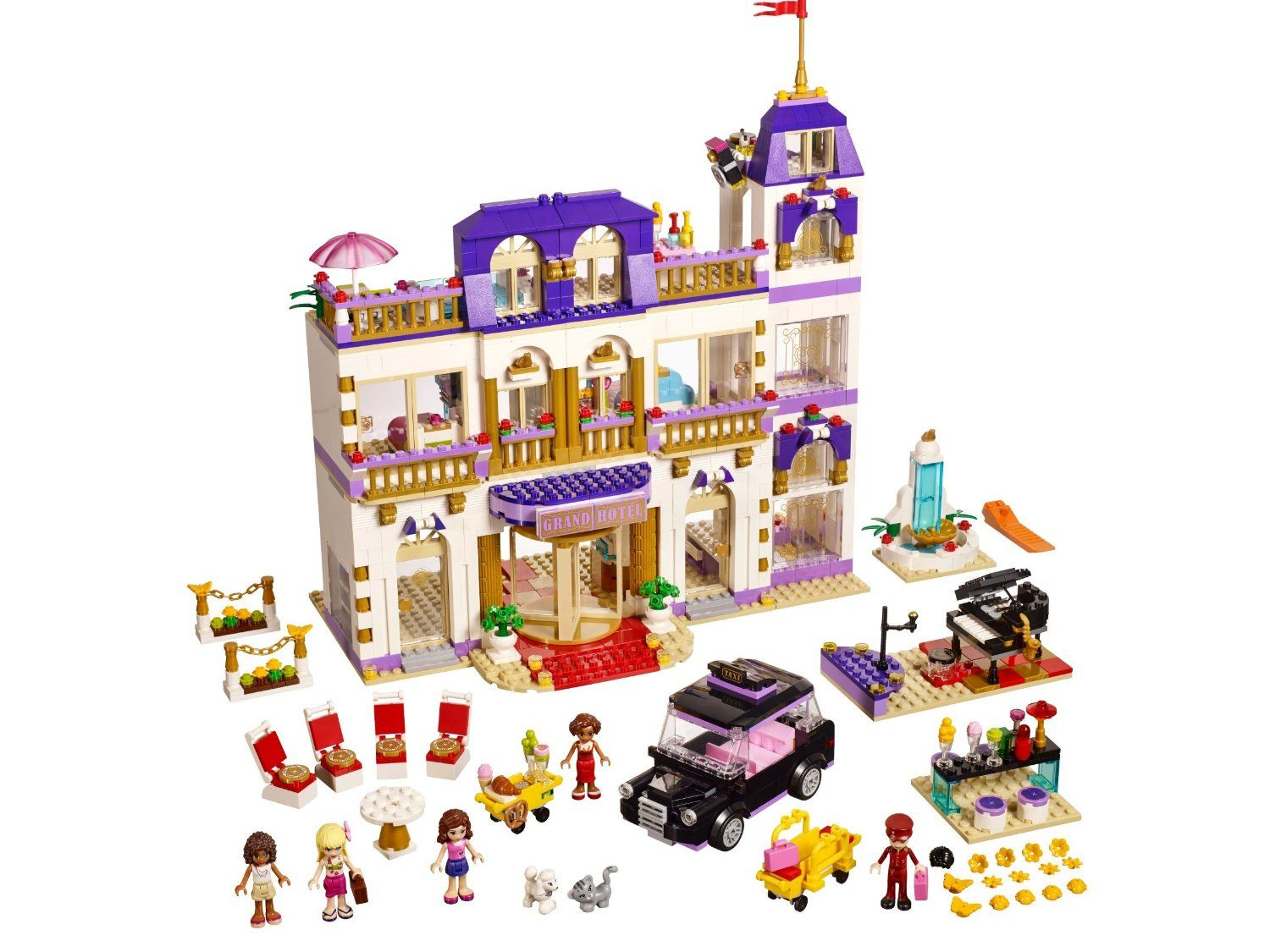 Lego friends heartlake grand hotel 41101 lego friends uk - Lego 41101 Friends Heartlake Grand Hotel Amazon Co Uk Toys Games