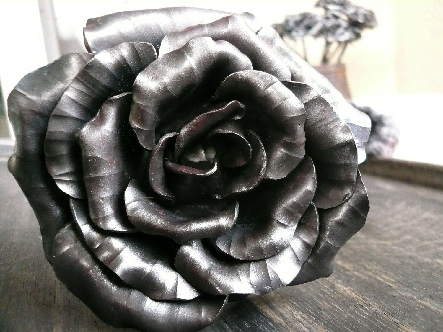 Iron Stein Forge Hand Forged Steel Rose Forged Metal Fine Art