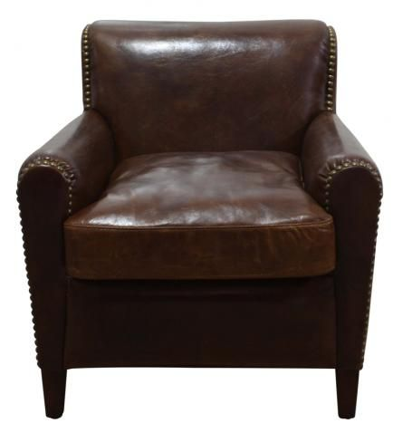Quincy Leather Arm Chair Block Chisel Armchair Chair Sofa