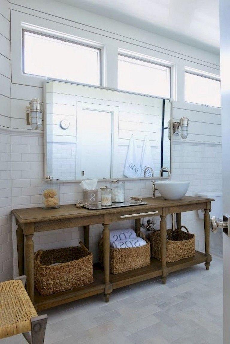 59 Gorgeous Coastal Beach Bathroom Decoration Ideas Beach