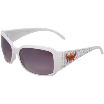 Ladies, lighten up your Cowboys attire with dazzling team pride with these Rhinestone Wings sunglasses! In addition to providing UV protection from the sun, these cute sunglasses offer team logo crests and rhinestones at the temples for an extra measure of glitz.
