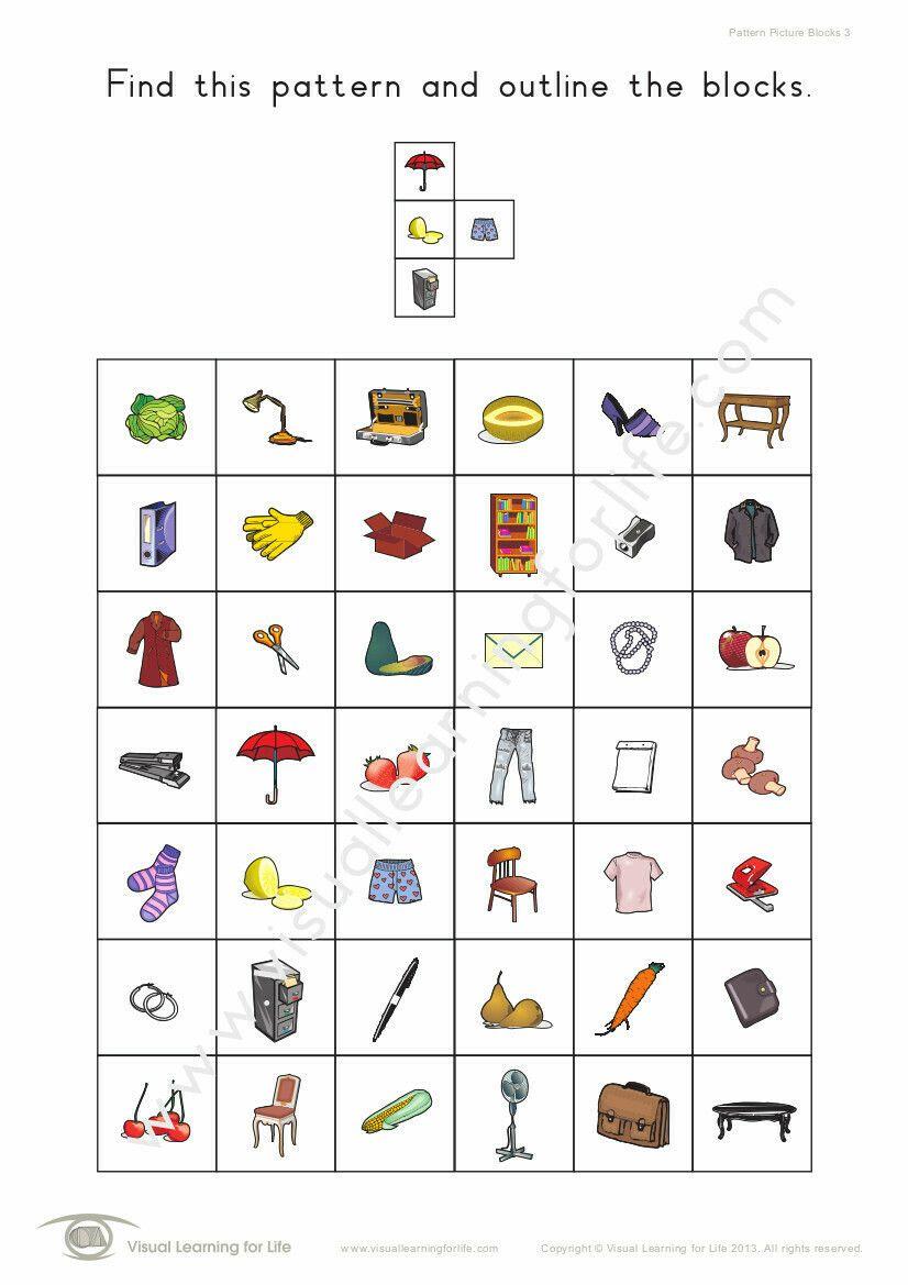 Pattern Picture Blocks Visual Perception Activities Figure Ground Perception Pattern Pictures [ 1169 x 826 Pixel ]