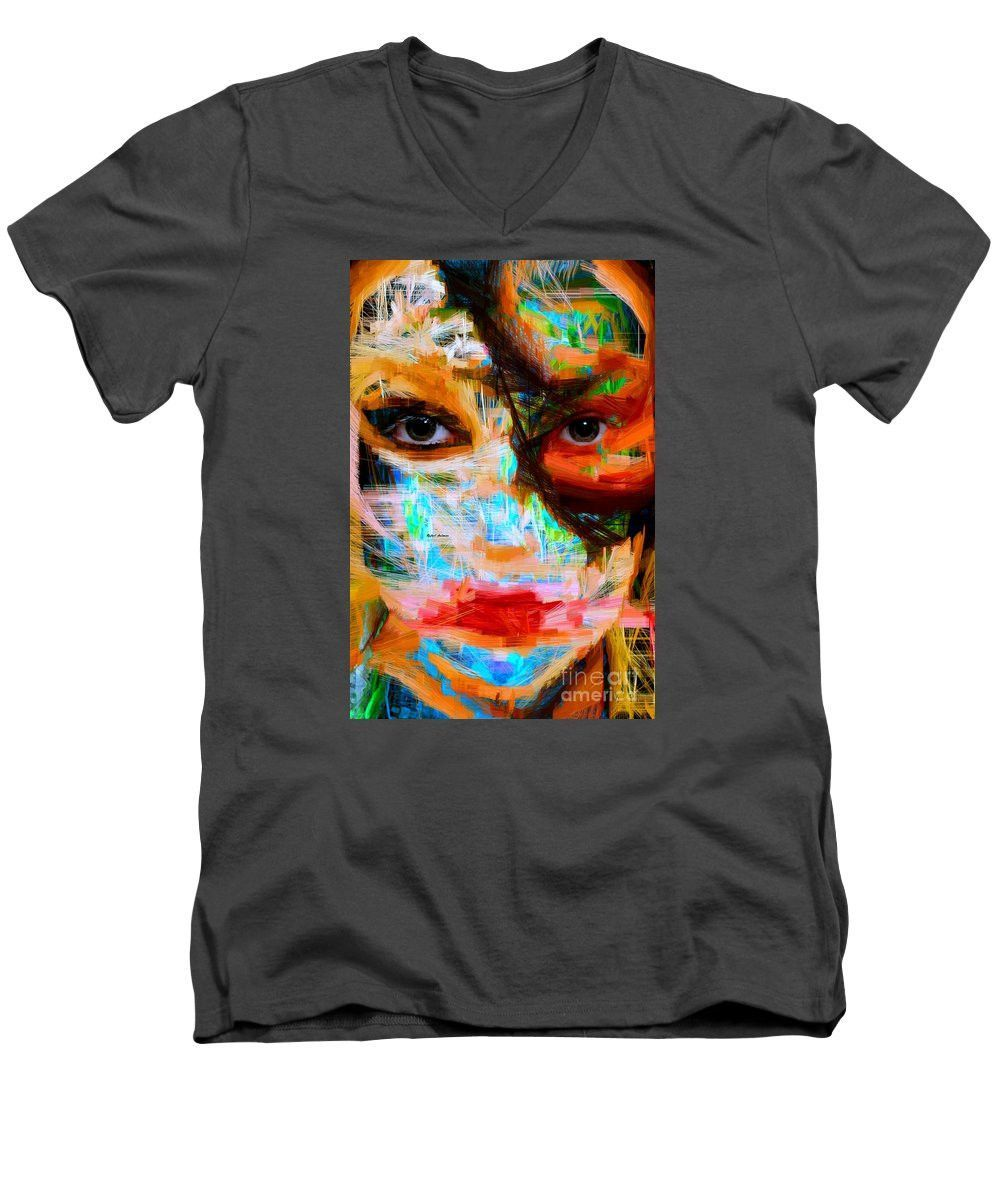 Men's V-Neck T-Shirt - Masquerade