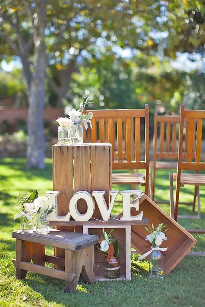 36 Rustic Wooden Crates Wedding Ideas | Rustic country ...