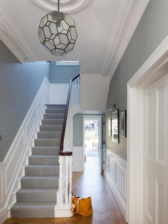 Victorian hallway uk home design ideas renovations Hallway colour scheme ideas