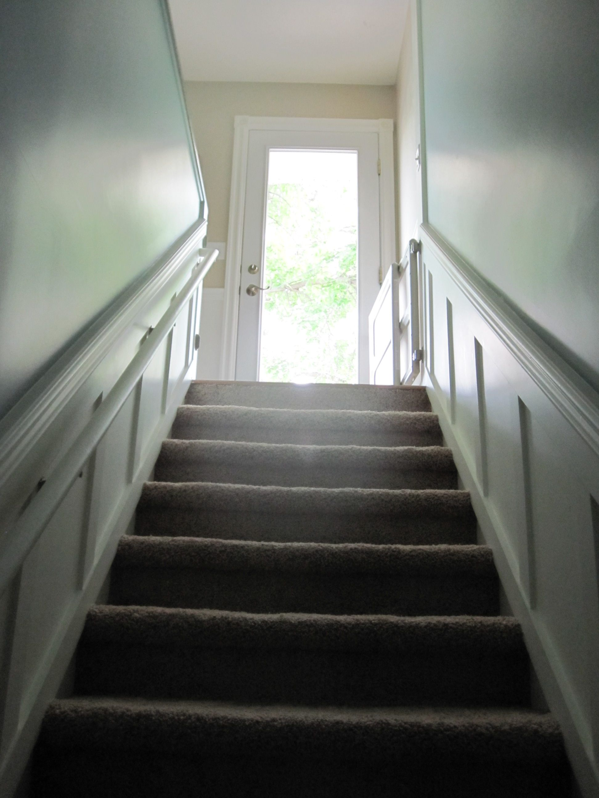 dark basement stairs. Add Panels To Basement Staircase? Dark Stairs S