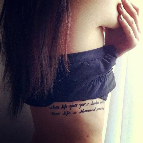 Best 25+ Side Quote Tattoos Ideas On Pinterest
