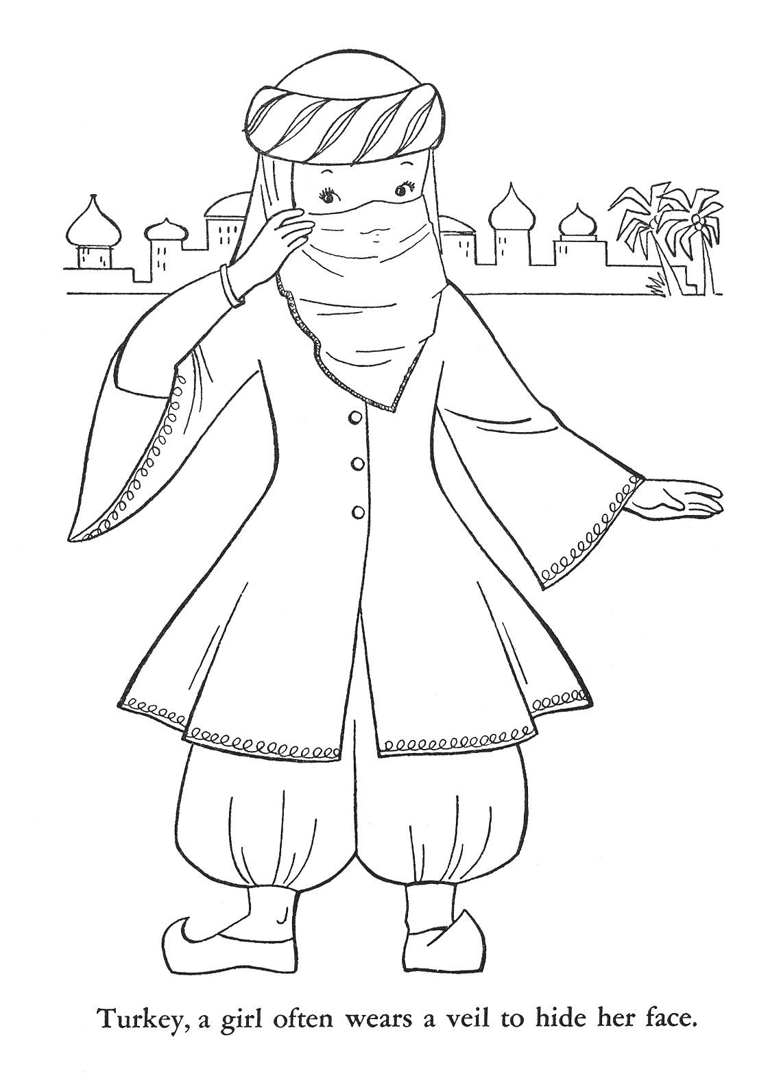Children Of Other Lands Kids Around The World Turkey Culture Coloring Pages