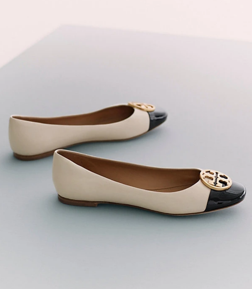 e4a01a62ceab Tory Burch CHELSEA CAP-TOE BALLET FLAT in 2019 | Holiday 2018 ...