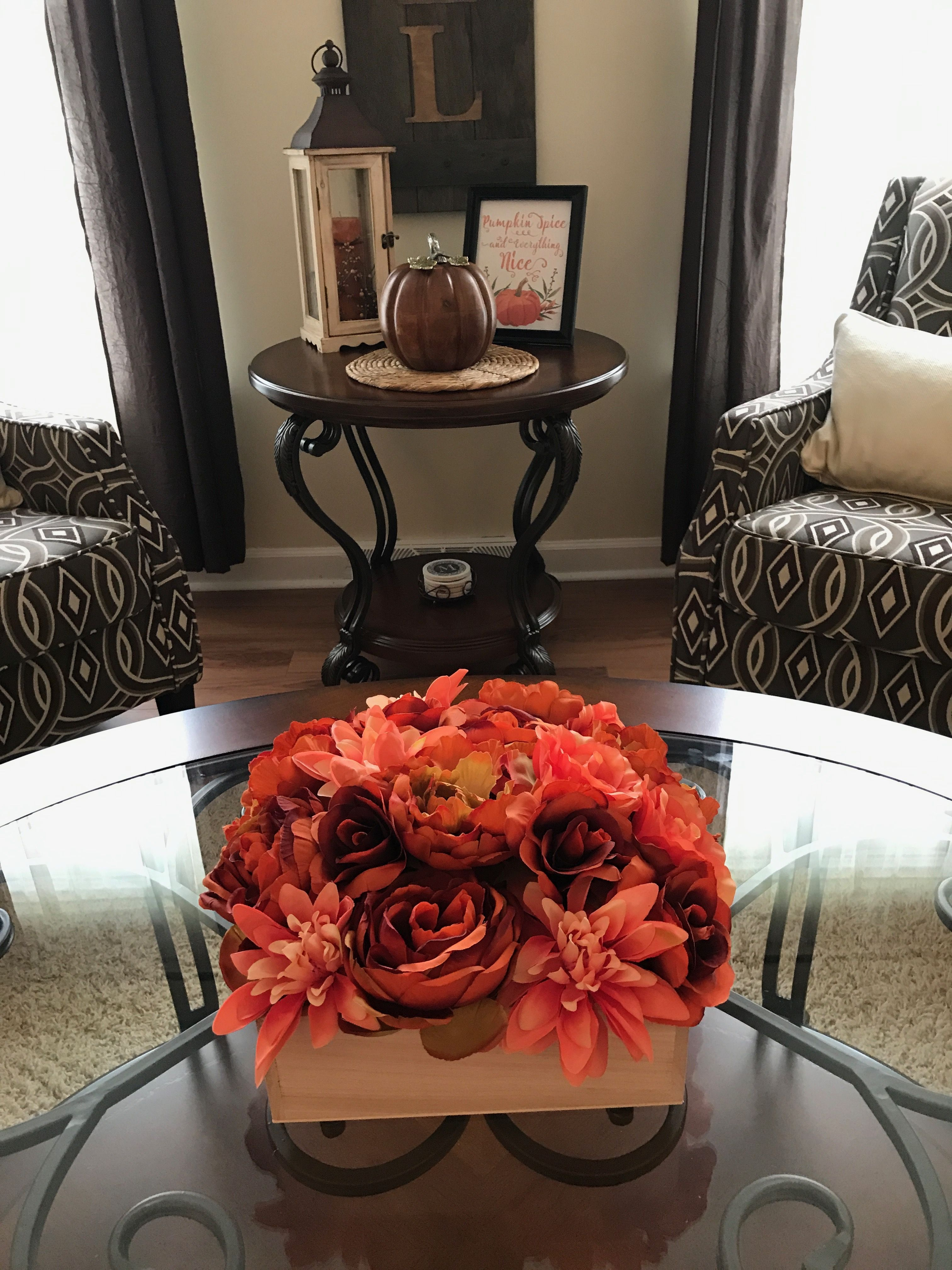 Coffee table center piece from home goods another one of