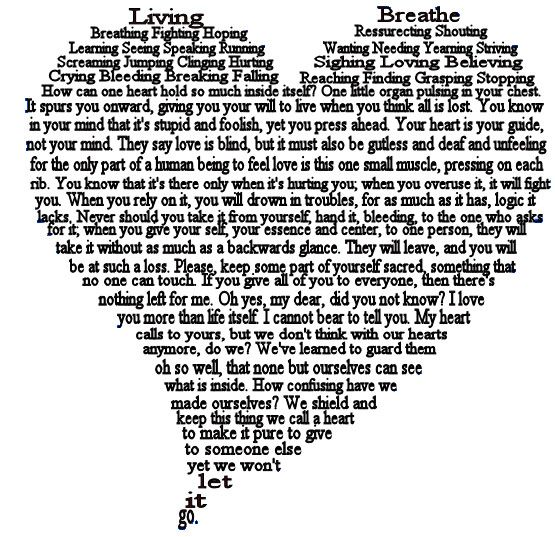Heart A Shape Poem By Crash Deviantart On