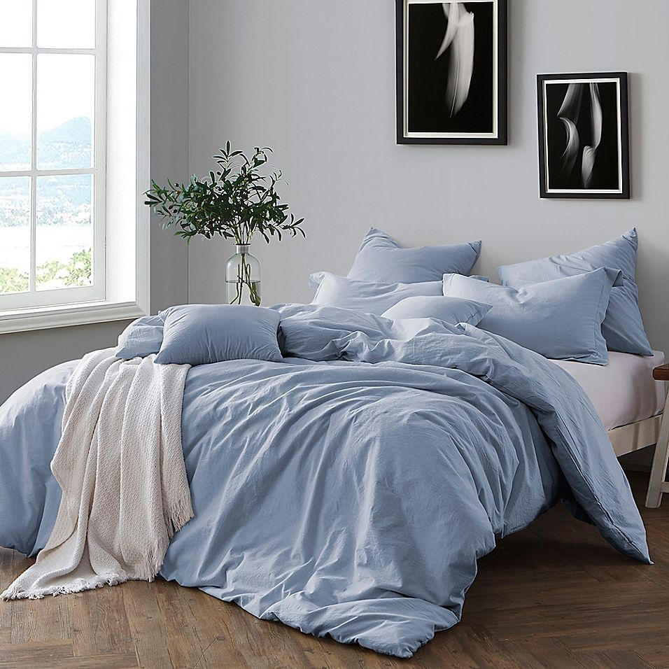 Swift Home Prewashed Yarn Dyed Cotton Twin Duvet Cover Set In Chambray Bed Linens Luxury Bed Linen Design Duvet Cover Sets