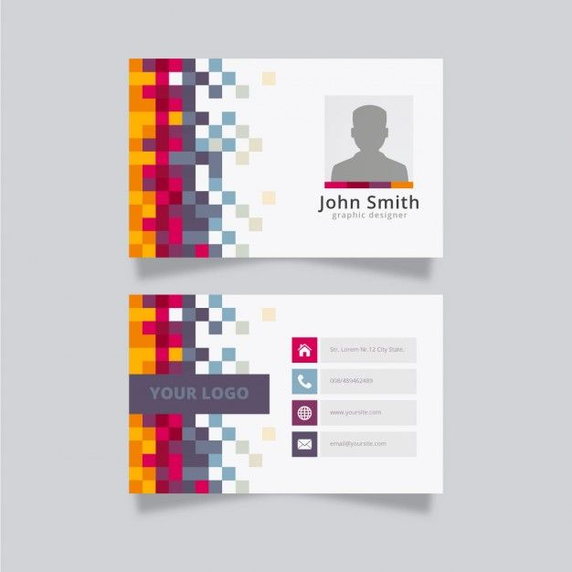 Colorful creative business card template Free Vector | namecard ...