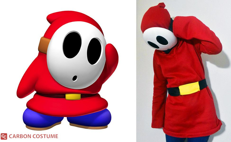 Make Your Own Shy Guy Hoodie Shy Guy Guys Mario Costume