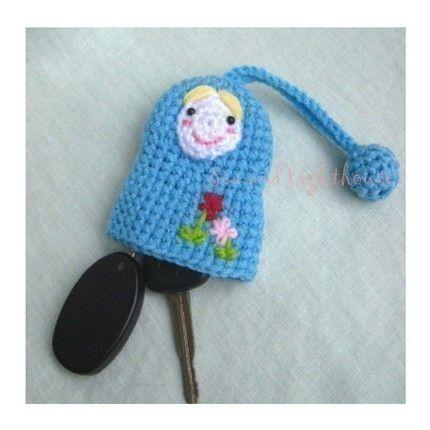 Crochet pattern - Matryoshka doll key covers. $2.50, via Etsy.