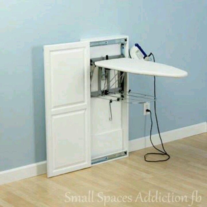 Tabla de planchar peque os espacios pinterest tabla - Mueble para guardar tabla de planchar ...
