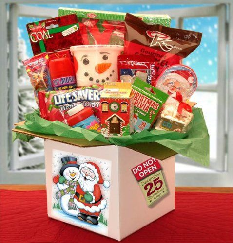 This Holiday Christmas Gift Basket Includes *Do Not Open until X