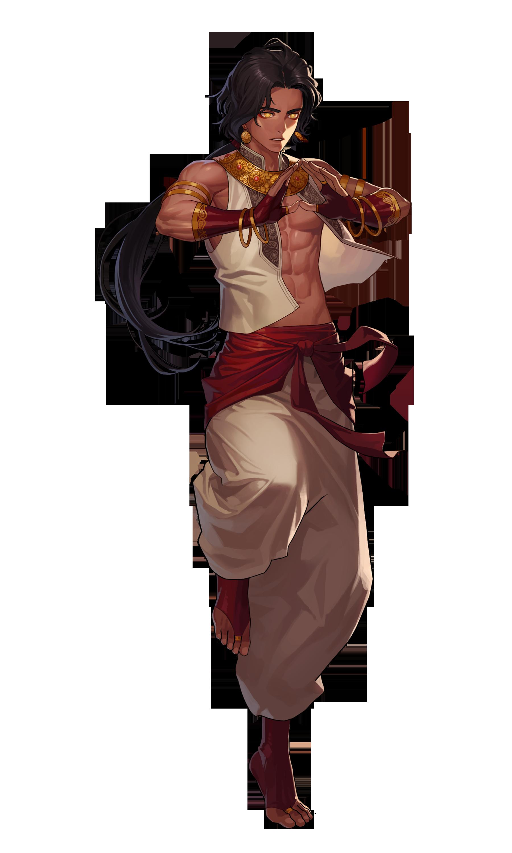 Black Survival Zahir Black Hair Boy Male Red White Gold Monk Martial Artest Gold Eyes Fantasy Character Design Fantasy Characters Character Design