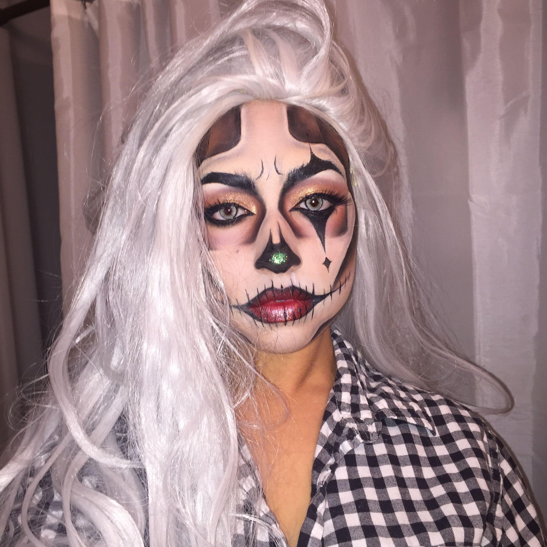 Clown skeleton Halloween makeup halloweenmakeup