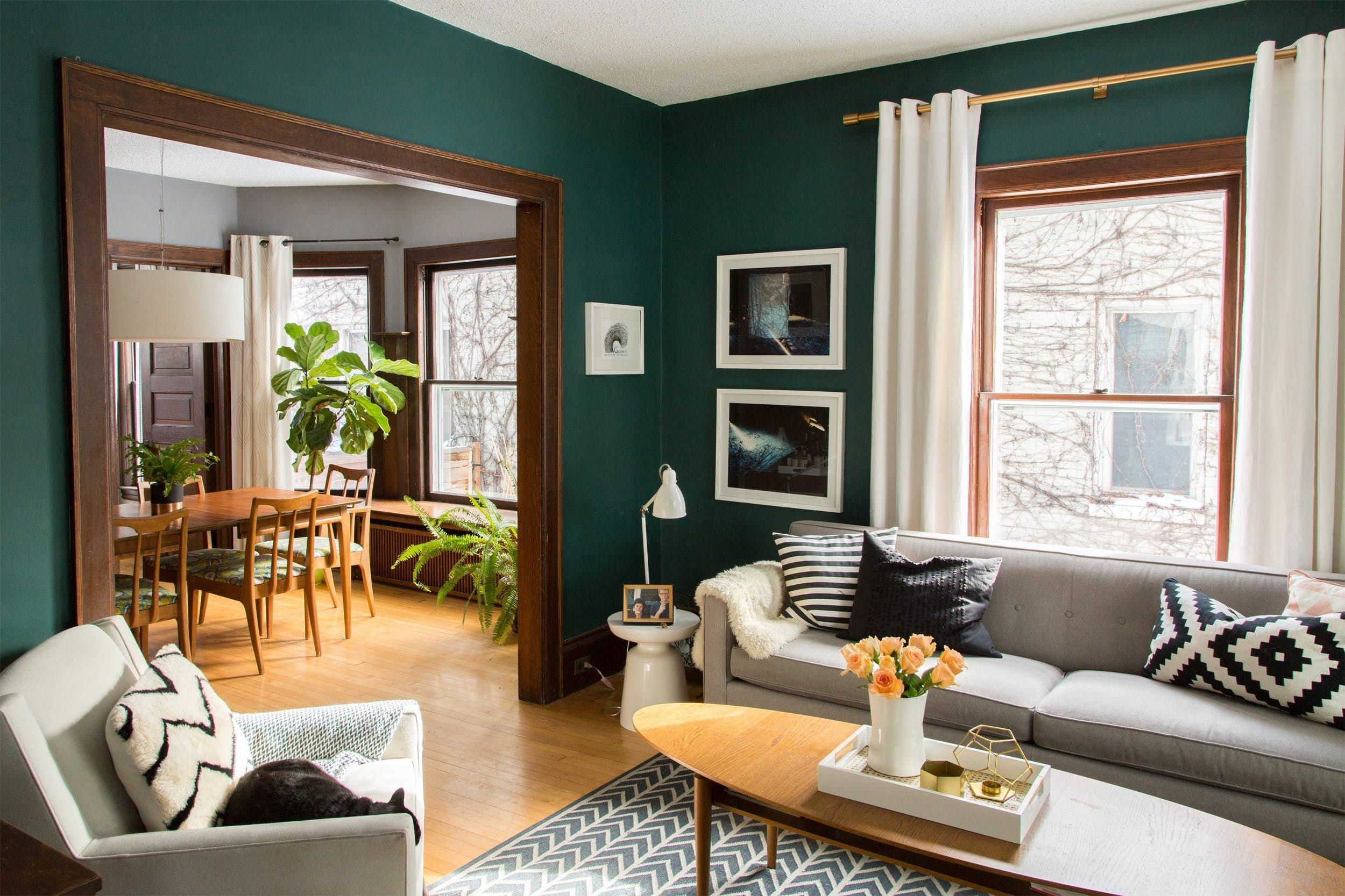 A 106 Year Old Minneapolis House With Chill Scandinavian Vibes House Tour Living Room Decor Modern Teal Living Rooms Modern Apartment Living Room