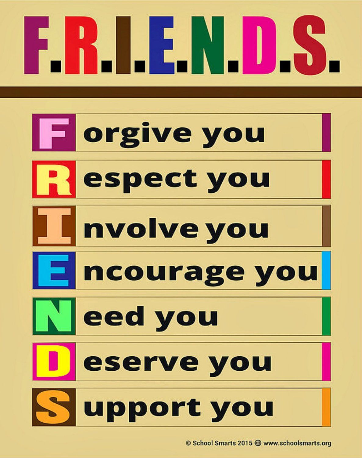 Amazon Large F R I E N D S Poster By School Smarts