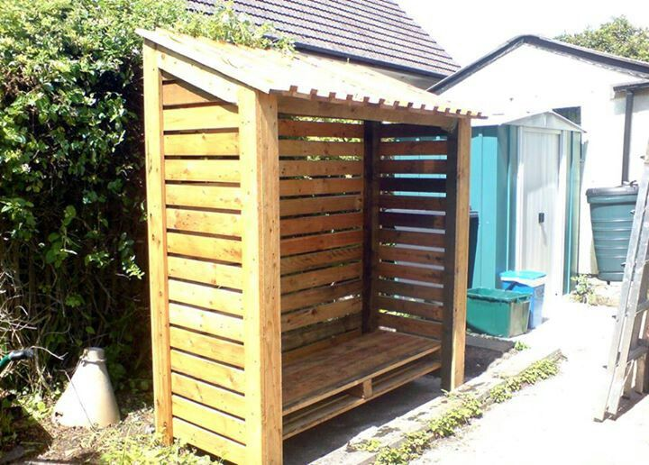 Diy Wood Storage Unit Made From Pallets Repurposed Pallets