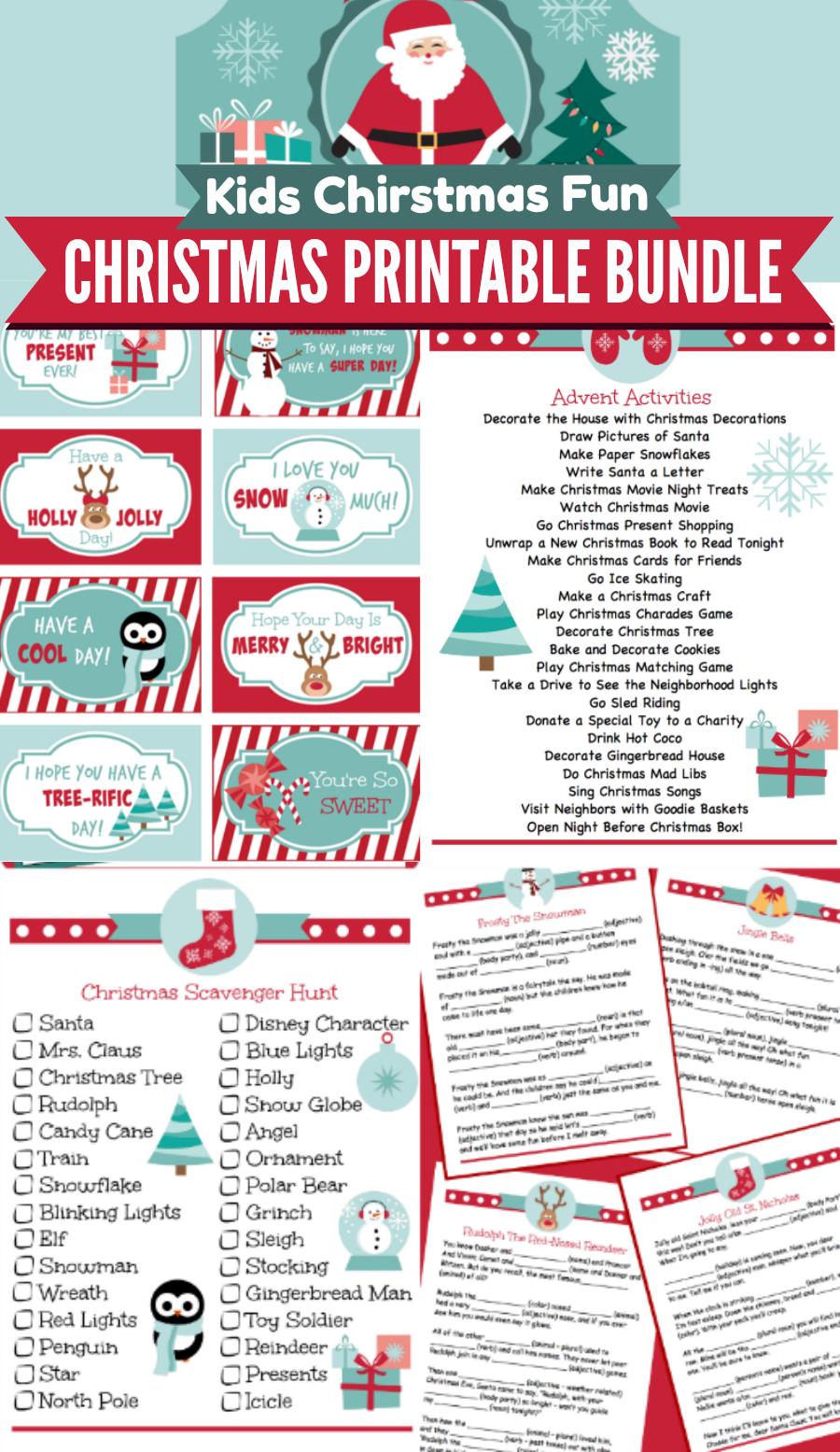 Christmas Printable Bundle | Holidays | Pinterest | Weihnachten