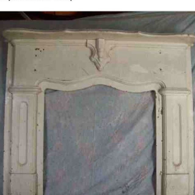Craigslist fireplace mantel for my headboard | My Projects ...